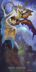 2018 The Twin Air Zodiac Dragons Gemini by The-SixthLeafClover