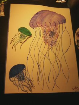 Single Mother Jellyfish Family by SamanthaMarie258