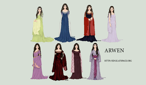 Arwen from Lord of the Rings by edgedolls
