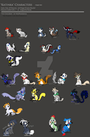 CharacterBoard - Children of NeoPaneruga by JB-Pawstep