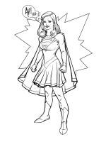 AHsketch07 supergirl inks1500 by PENICKart