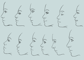 Female profiles by Ravica