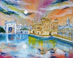 The Golden Temple by LauraHolArt