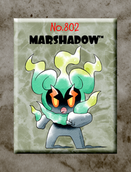Marshadow (Old Sugimori Style) by CadmiumRED
