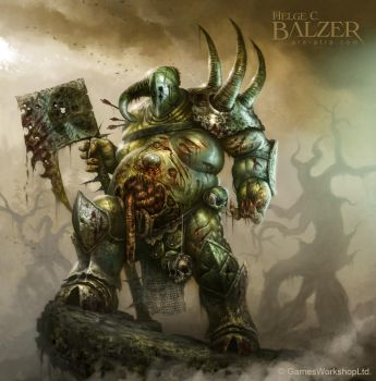 Warhammer - Nurgle Lord of Chaos - (c) GW by helgecbalzer