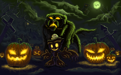 Happy HALL O Ween by Mikan-no-Tora