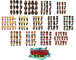 Total Drama Revenge of the Island Cast DONE by SWSU-Master