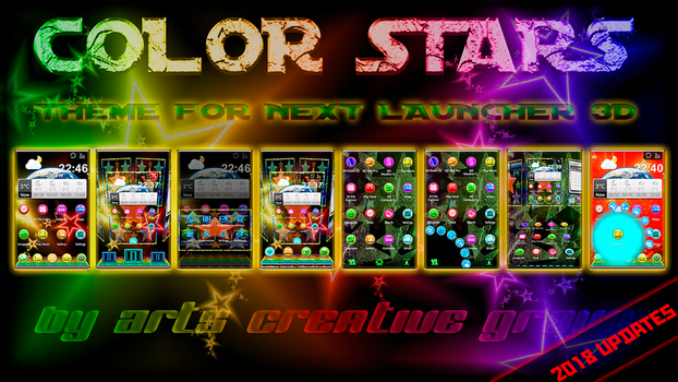 Next Launcher Theme Color Stars by ArtsCreativeGroup