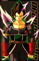 Potara-Bardock KingVegeta by Rukunetsu