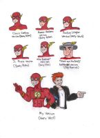 Different Styles of The Flash by KessieLou