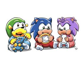 AT Baby Sonic and Family by ViralJP