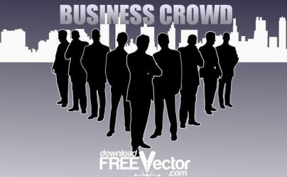 Vector Business Crowd by downloadfreevector