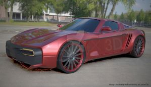 Retrodesign concept car project by koleos33