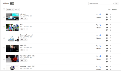 RARE SCREENSHOT OF MY OLD CHANNEL by lovie5678