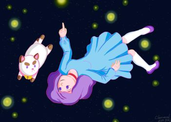 Bee and Puppycat Space by Clear-mooN