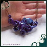 Purple Octopus Necklace by lily-inabottle
