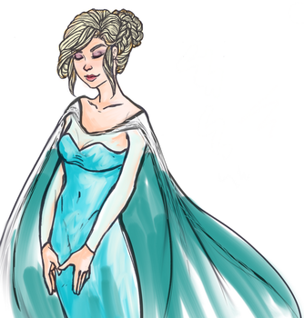 Elsa - Coloured by painty-teacup