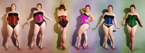 Corsets Of The Rainbow by FatBottomedGirl