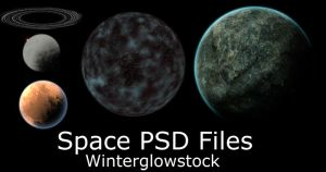 Space PSD Files by WinterglowStock
