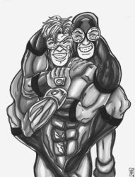 Booster an Beatle Best Buds by KwongBee-Arts