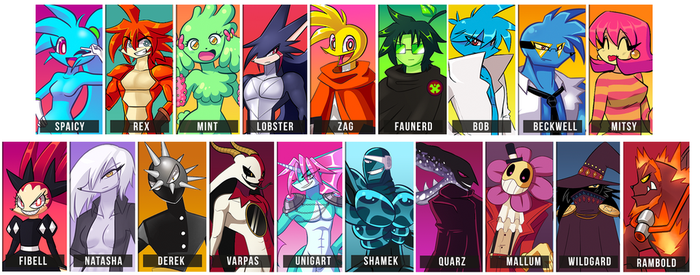 Spaicy Characters by LoulouVZ