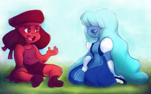 Ruby and Sapphire by Rentyn