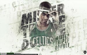 Rajon Rondo Celtics Wallpaper by IshaanMishra