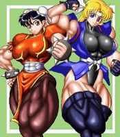 Strong Thigh Girls by RENtb