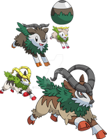 672 and 673 - Skiddo Evolutionary Family