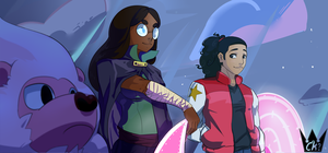 Lion, Connie, and Steven oh my! by Chrono-King