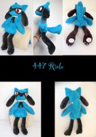 Riolu Plush by nfasel