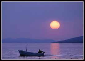 Little boats in Sunset by kanes