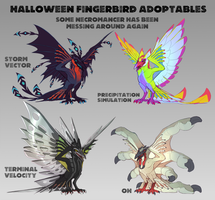 Halloween Fingerbird Adoptables [3/4 Open] by Zyraxus