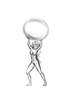 [Almost] Daily Sketch 006 - Mother Nature thingy by slagjoeyoco