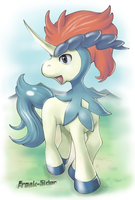 Keldeo by freak-sider