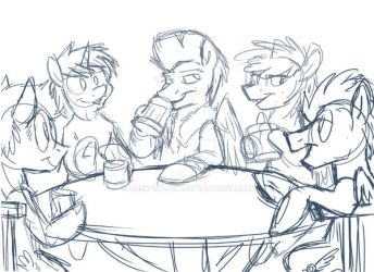 The Editor's Day Off (Rough Sketch) by Dusk-Watch