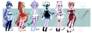 new adopts - CLOSED THx you by Yumi-Umi