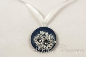 Snowy Nights Art Deco Pendant by DeidreDreams