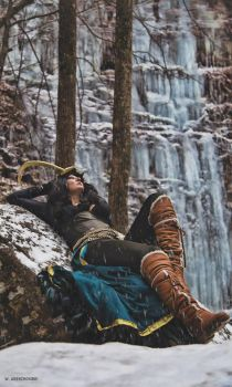 Lady Loki Cosplay Shoot by Wolfariusorca