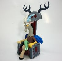 Discord sculpture commission 2 by MadPonyScientist