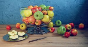 Apple morning by HorheSoloma