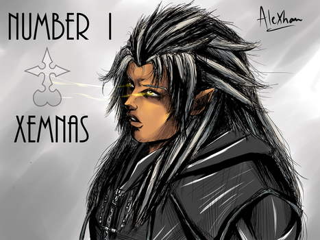 Number I : Lord Xemnas by alexjuandro