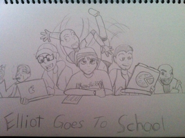 Sketch-Elliot Goes To School by TalonFoxtrot