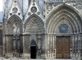 Cathedral of Bayeux - Gate (1) by UdoChristmann