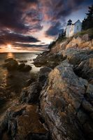 Bass Harbor Head Light,Maine by Brettc