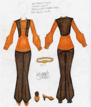Orange Sweater Outfit Design by Zaratulah
