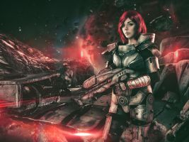 Commander Shepard Cosplay by Anhyra