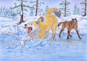 Crescent Children | Monthly Event | On thin Ice by LupaSola