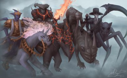 The 4 Horsemen by stallout