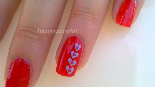 10_Red Lovely Nail Art by pinkshadoww